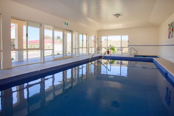 Indoor swimming pool at Acacia Park