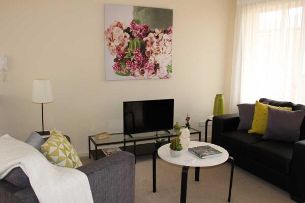 Living area - 6 & 8/21-23 Constance Street