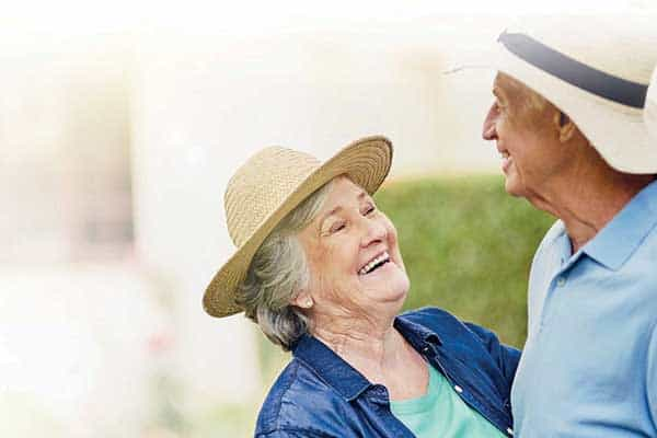 Couple enjoying life after retirement