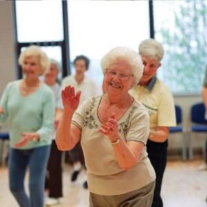Residents Line Dancing at Saffron